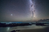 オセアニア 木星と天の川
