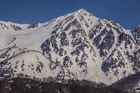 長野県 残雪の白馬鑓ヶ岳