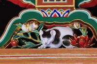 栃木県 日光東照宮 修復完成後の眠り猫(17年3月)