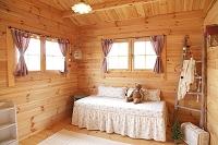 ログハウスの子ども部屋