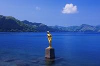 秋田県 田沢湖 辰子像