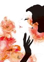 VERMILLION 女性と花