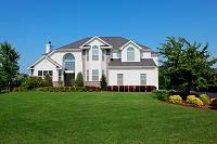 アメリカ合衆国 広い庭のある一軒家