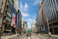 東京都 銀座 人出の少ない歩行者天国
