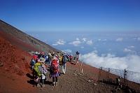 山梨県 富士登山(八合目)