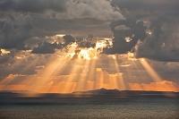 海と夕焼け空