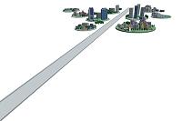 円街と直線