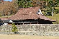 岡山県 閑谷学校講堂(国宝)と石塀(重要文化財)