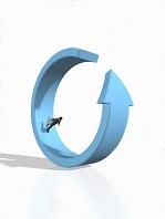リング形状の矢印