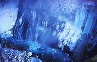 北海道 美瑛町 夜の白ひげの滝