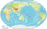 世界全図 自然図