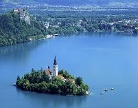 スロベニア、ブレッド湖/ブレッド城と聖マリア教会