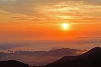 雲海 夏至の朝 鳥羽湾遠望 伊勢志摩スカイラインから