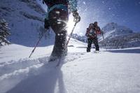スキーツアーのハイキング
