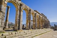 モロッコ ヴォルビリス遺跡 バシリカ礼拝堂
