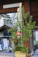 長野県 松本城の門松
