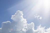 雲と日差し