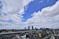 <全国6都市の天気の変化>  名古屋 正午の天気 6月13日