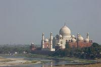 アーグラ城からのタージマハル アグラ インド