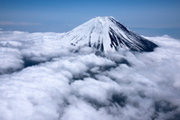 山梨県 雲海と富士山