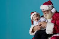 サンタクロースと赤ちゃん