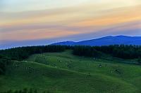 北海道 夕空 900草原(牧場)から撮影