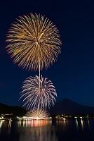 山梨県 富士山と河口湖湖上祭花火大会