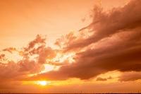 東京都 夕日と雲