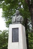 長野県 上田城公園 三吉米熊胸像