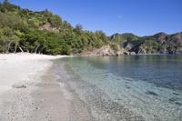 東京都 父島にてコペペ海岸の白砂の浜