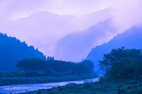 京都府 美山川の朝霧