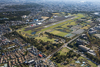 東京都 調布市・府中市・三鷹市 武蔵野の森公園の空撮