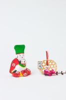 相良土人形犬抱き童子と正月飾り