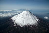山梨県 富士山(高度4,000mより撮影)