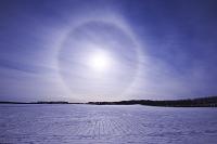 北海道 日暈と大地