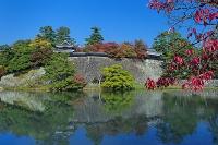 島根県 紅葉と松江城と堀