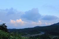 北海道 夕日の道央道・登別