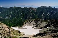 富山県 立山町 立山・御前沢カールと後立山連峰 立山・雄山山頂