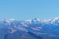 五龍スキー場より白馬の街 雨飾山を望む