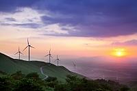 熊本県 俵山峠の風力発電