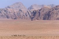 岩山 ラクダ 砂漠 ワディラム ヨルダン