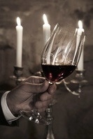クリスマスのインテリアワイン