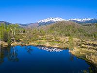 長野県 乗鞍高原 まいめの池と乗鞍岳
