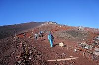 静岡県 富士山の登山道(八合目)