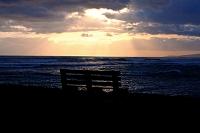ハワイ オアフ島 アラモアナ・ビーチ 夕景