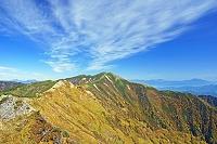 長野県 岩小屋沢岳から爺ケ岳と雲