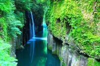 宮崎県 高千穂町 初夏の高千穂峡 真名井の滝