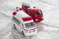 救急車と消防車のミニカー