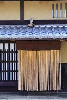 京都府 民家の竹暖簾