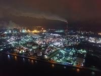 三重県 四日市工業地帯夜景